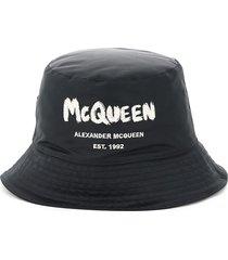 alexander mcqueen mcqueen graffiti bucket hat
