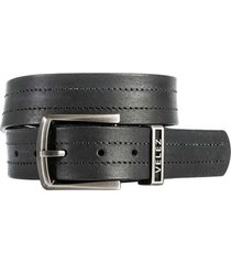 cinturón unifaz de cuero aplique metálico