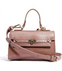 like dreams vegan leather croc top handle mini satchel