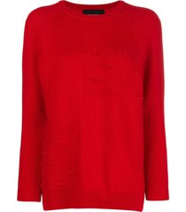 simone rocha patchwork knit sweater - red