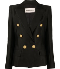 alexandre vauthier double breasted structured blazer - black