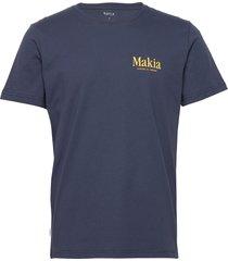madeira t-shirt t-shirts short-sleeved blå makia