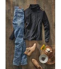 jeans morbidi straight (blu) - john baner jeanswear