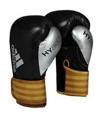 luva de boxe adidas hybrid 65 - preto e dourado