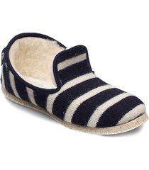 striped slippers ''''maoutig'''' loafers låga skor blå armor lux