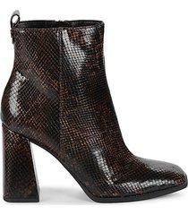 pascha snakeskin-embossed heeled booties