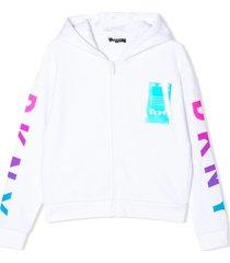 dkny gradient logo hoodie