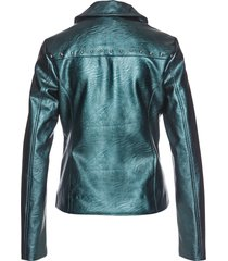 giacca in similpelle con borchie (petrolio) - bpc selection premium
