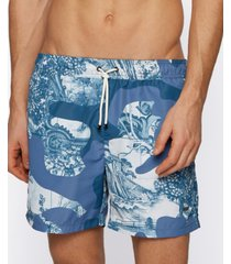 boss men's camouflage-print swim shorts