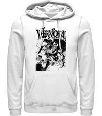 marvel men's classic venom comic poster, pullover hoodie