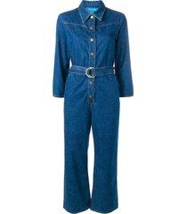 mih jeans harper denim jumpsuit - blue