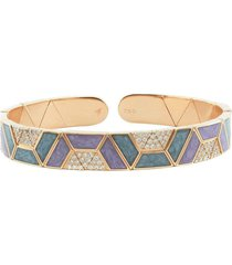 alessa 18kt rose gold diamond elixir continuity binary bracelet - pink