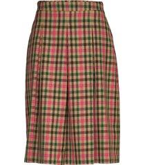 3344 - norma l knälång kjol multi/mönstrad sand