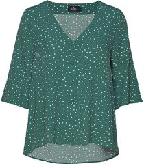 délia blouse blouses short-sleeved grön morris lady