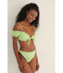 mimi a.r x na-kd recycled bikinitrosa med volangdetaljer - green