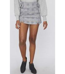 short falda checks gris checks  mujer corona