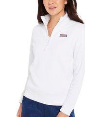 vineyard vines shep quarter-zip knit shirt, size small in white cap at nordstrom
