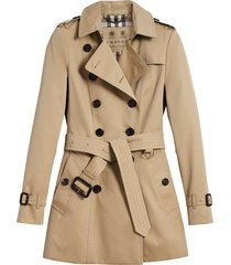 burberry the chelsea - short trench coat - brown