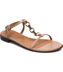 sandals 4141 shoes summer shoes flat sandals beige billi bi