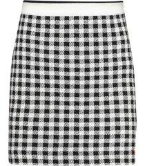 miu miu wool vichy skirt