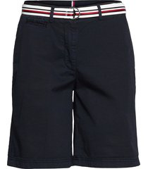 cotton tencel chino rw short shorts chino shorts blå tommy hilfiger