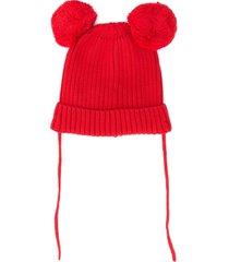 mini rodini knitted beanie - red