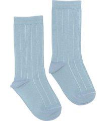women's nico rib plant dyed organic cotton socks, size one size - blue