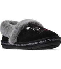 skechers women's bobs for cats too cozy meow pajamas slipper shoes from finish line
