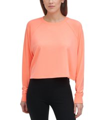 dkny sport women's cropped sweatshirt