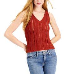bar iii cotton sweater tank top, created for macy's