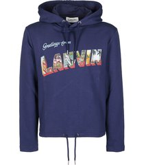 lanvin blue cotton sweatshirt
