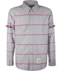 thom browne armband straight fit button down long sleeve shirt