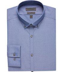 calvin klein blue diamond slim fit dress shirt