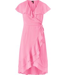 omlottklänning vmmaya s/s wrap frill dress
