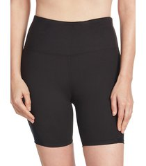 sage collective women's mesh-insert bike shorts - black - size xl