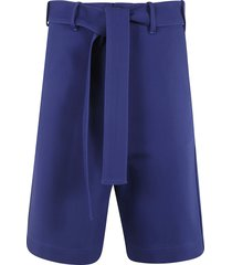 plan c belted short trousers