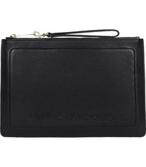 marc jacobs clutch in black leather