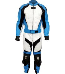 new mens blue black white color motorcycle leather suit leather jacket and pants