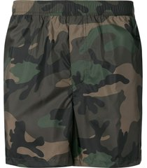 valentino camouflage swim shorts - green