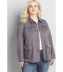 lane bryant women's utility jacket 18 galaxy gray