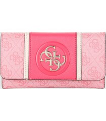 billetera rosado-fucsia-blanco guess