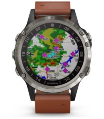 garmin d2 delta premium gps aviator watch in brown