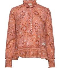 ravishing blouse blouse lange mouwen oranje odd molly