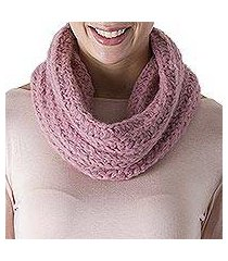 100% alpaca neck warmer, 'exotic rose' (peru)
