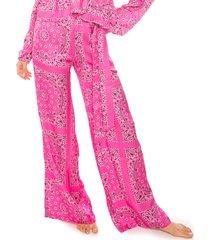 pink bandana palazzo pants
