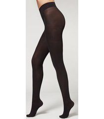 calzedonia 50 denier total comfort soft touch tights woman black size 1/2