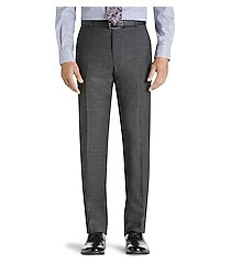 1905 collection tailored fit flat front pre-hemmed plaid dress pants - big & tall clearance by jos. a. bank