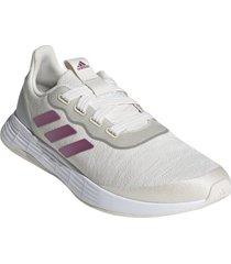 zapatilla blanca adidas qt racer sport