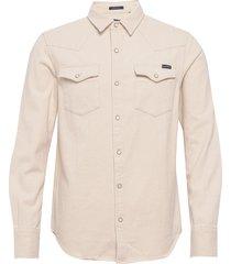 resurrection l/s shirt overhemd casual beige superdry