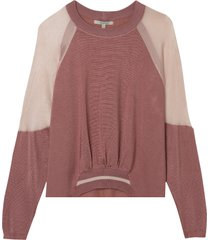 blusa rosa chá edam i tricot rosa feminina (whitered rose (rose 012), gg)